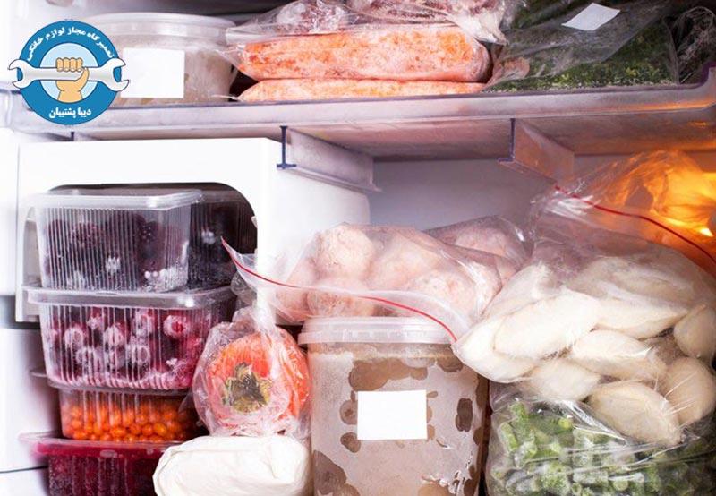 دلایل اب شدن موادغذایی در یخچال سامسونگ