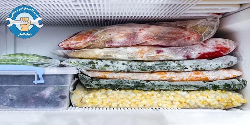 جلوگیری از یخ زدن مواد غذایی در یخچال سامسونگ