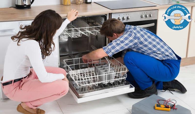 رفع مشکل ارور 4E و4C در ماشین ظرفشویی سامسونگ
