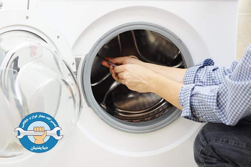 برطرف کردن علت آبریزی از ماشین لباسشویی سامسونگ